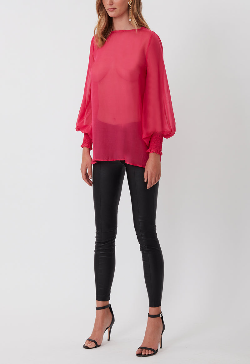 EVERYDAY SILK CHIFFON BLOUSE PINK