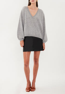 EVERYDAY V NECK GREY MARLE