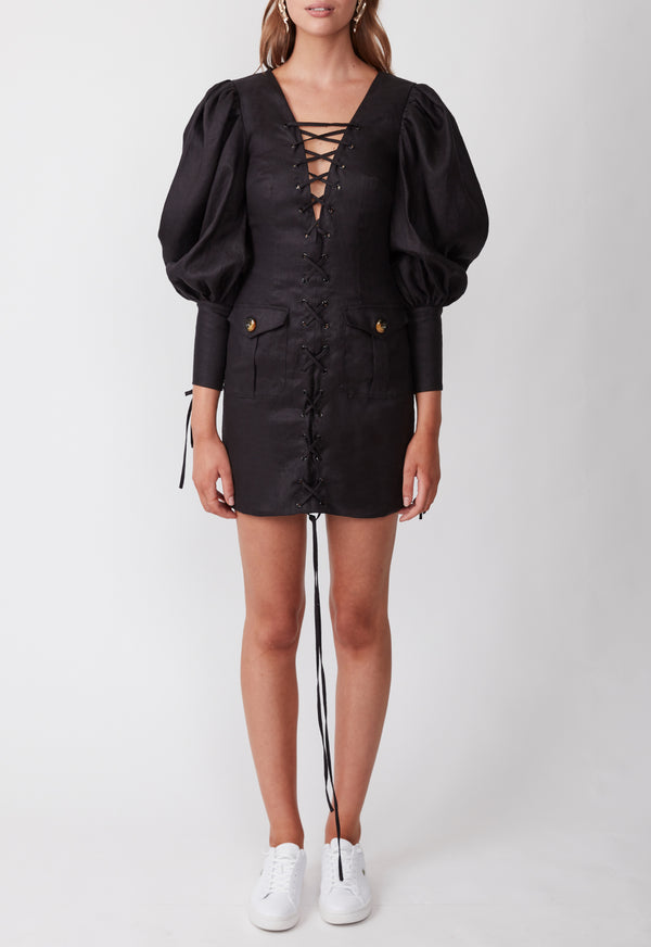 EXPEDITION MINI DRESS BLACK
