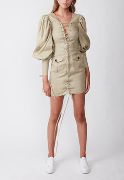 EXPEDITION MINI DRESS KHAKI