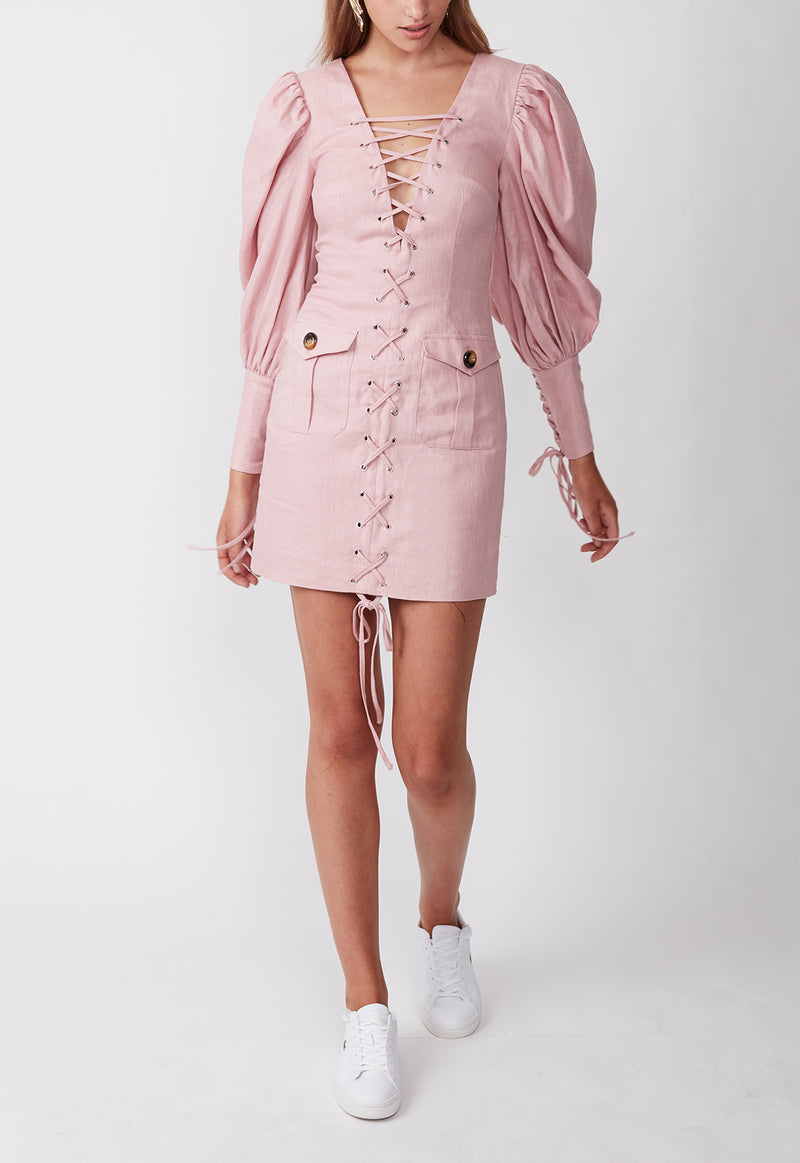 EXPEDITION MINI DRESS PINK