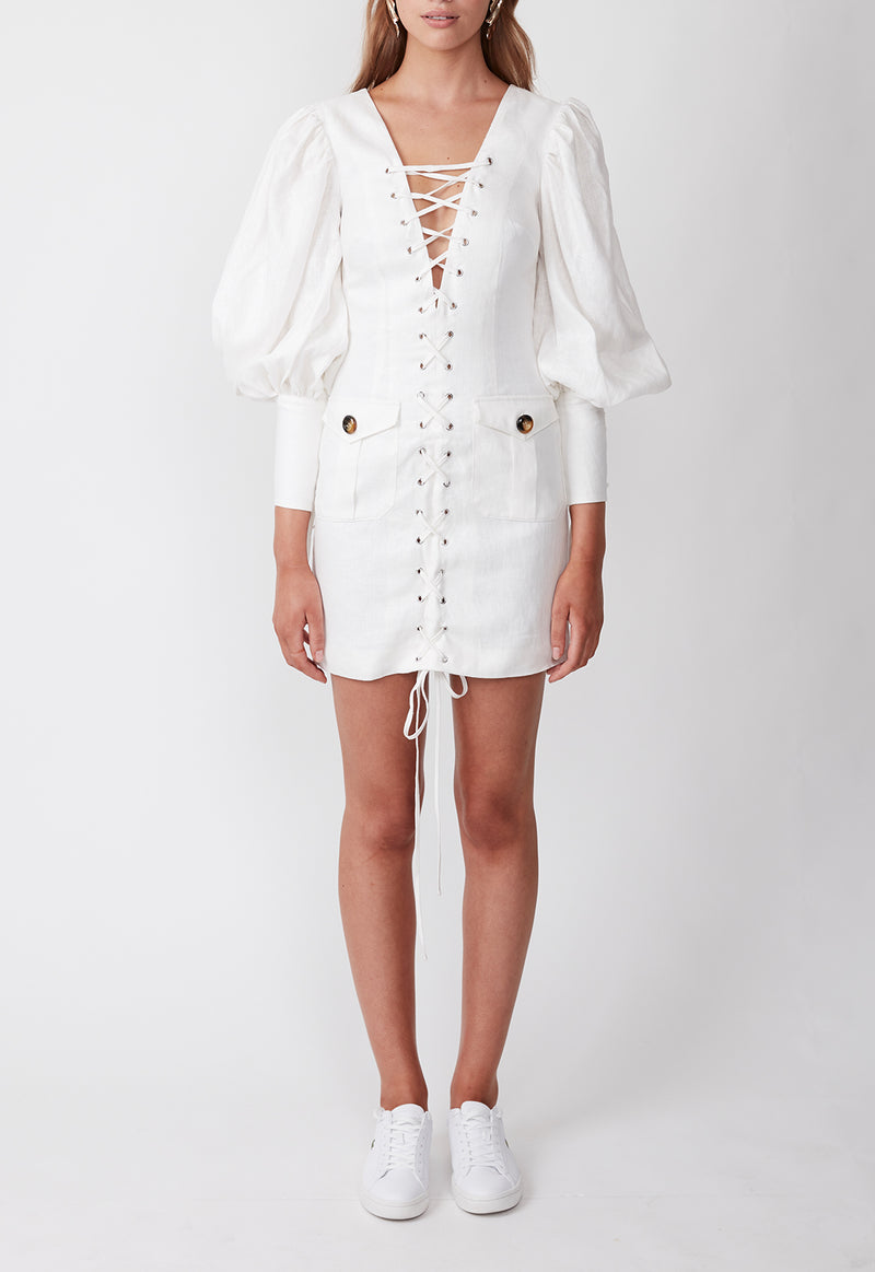 EXPEDITION MINI DRESS WHITE