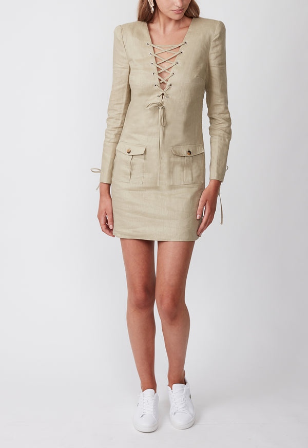 EXPEDITION SHIRT DRESS KHAKI