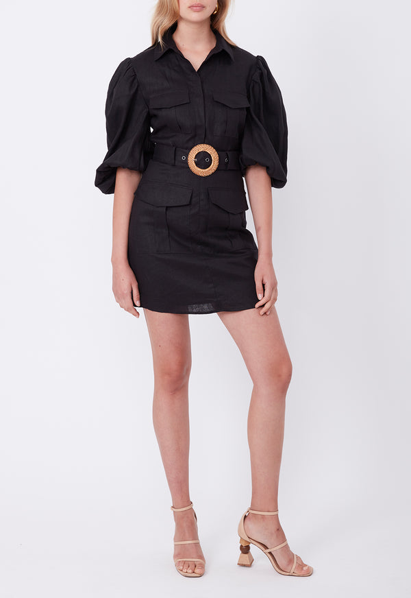 EXPLORER MINI DRESS BLACK