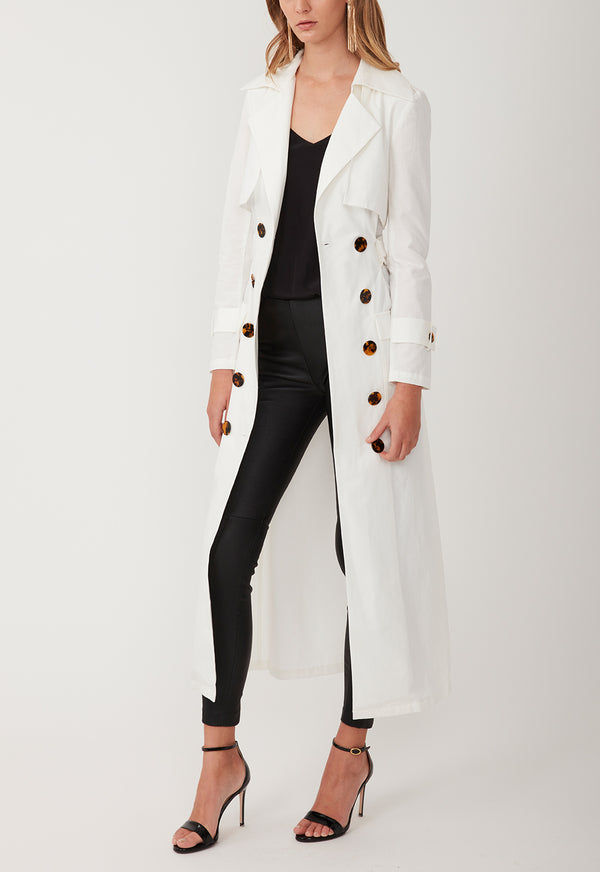 GADGET TRENCH LONG WHITE