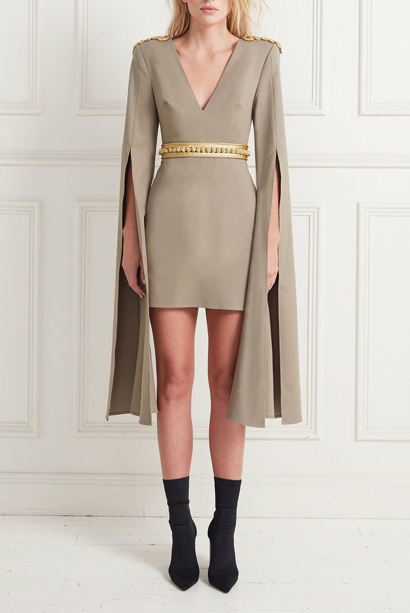 HIGH PLACES MINI DRESS KHAKI