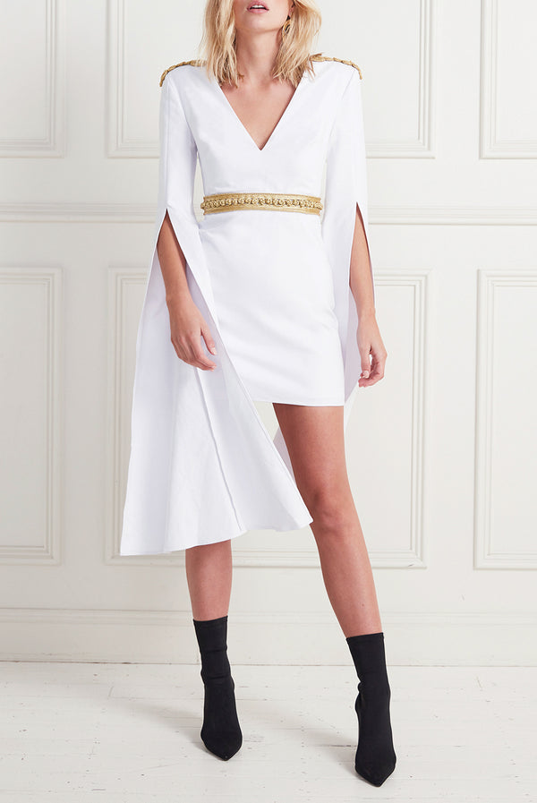 HIGH PLACES MINI DRESS WHITE
