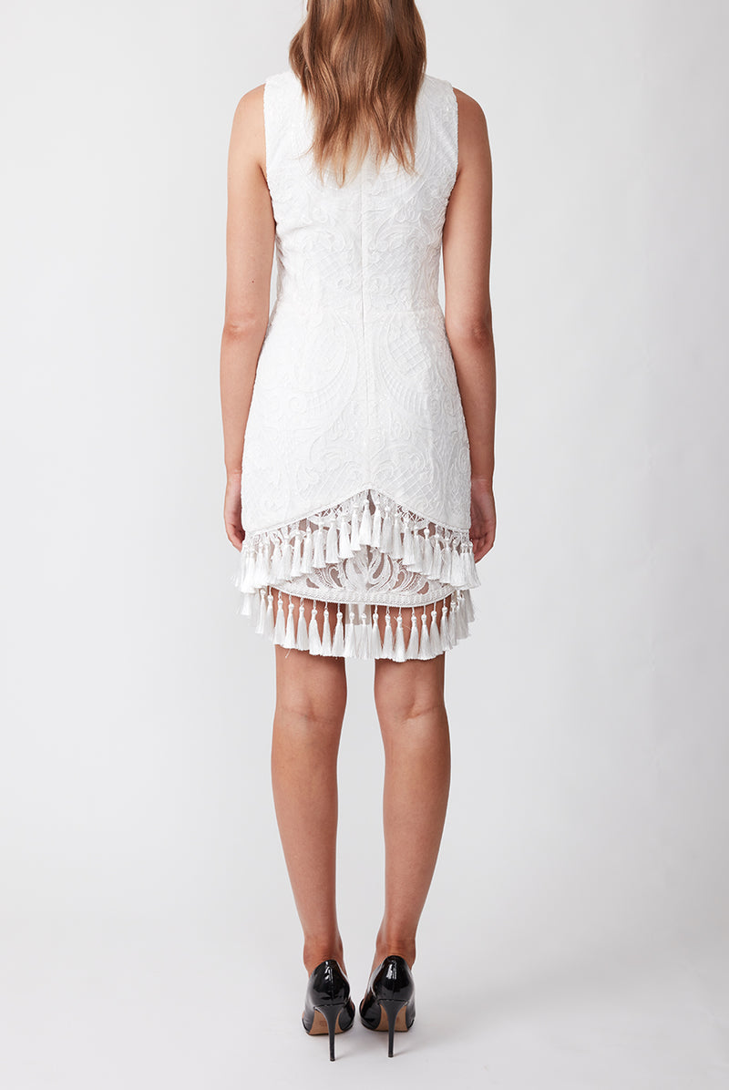 HIGH HOPES MINI DRESS WHITE