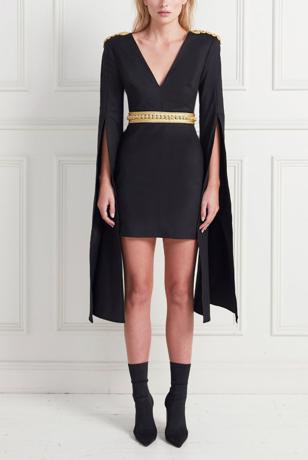 HIGH PLACES MINI DRESS BLACK