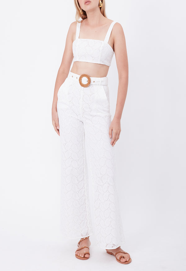 BROCADE LACE CROP