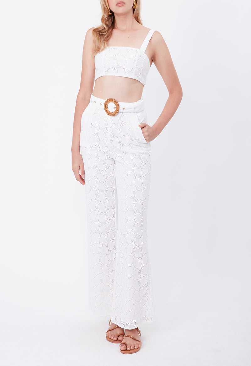 BROCADE LACE PANT