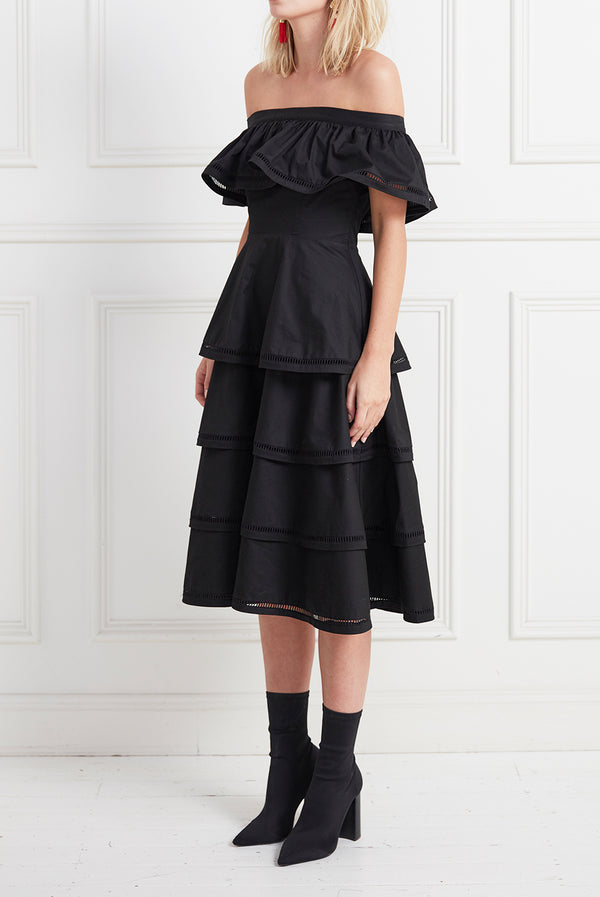 LAYER CAKE DRESS BLACK