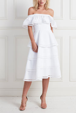 LAYER CAKE DRESS WHITE