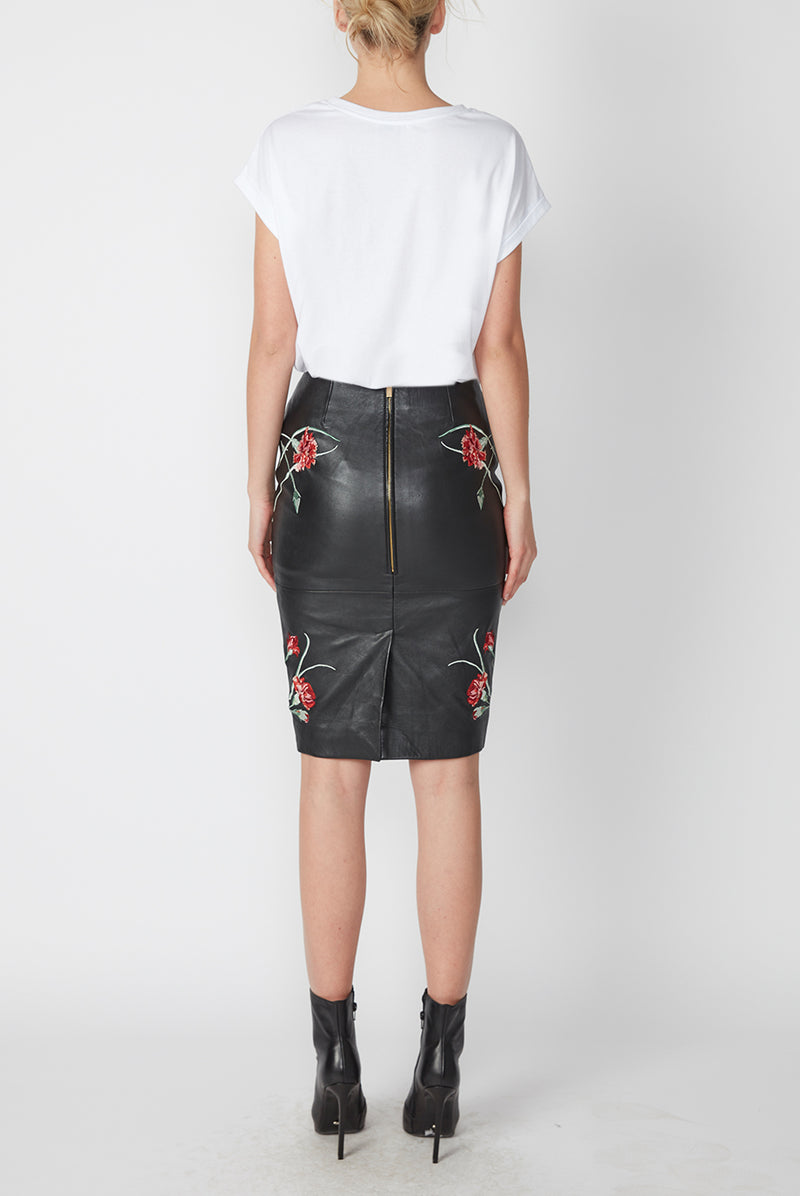 JARDIN LEATHER SKIRT