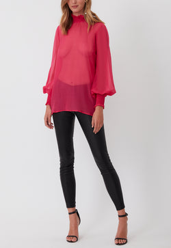 LOVE LACE BLOUSE PINK