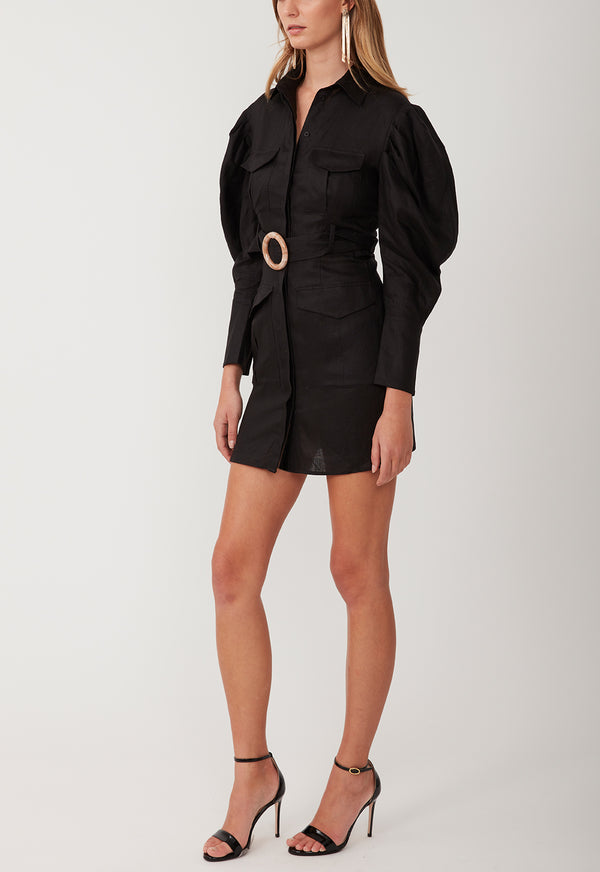 MARCH ON MINI DRESS BLACK
