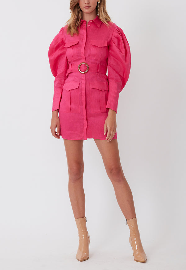 MARCH ON MINI DRESS FUSCHIA