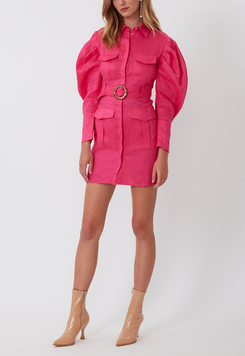 MARCH ON MINI DRESS FUCHSIA