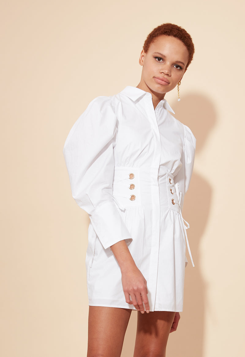 MARLI SHIRT DRESS WHITE