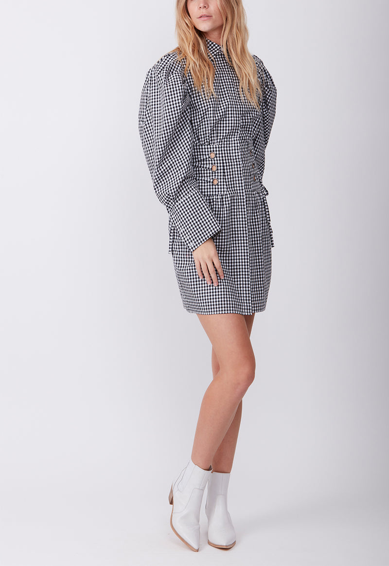 MARLI SHIRT DRESS CHECK