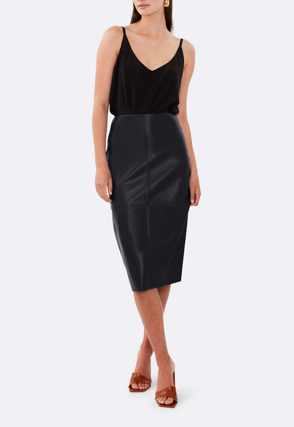 MID LENGTH PENCIL SKIRT BLACK