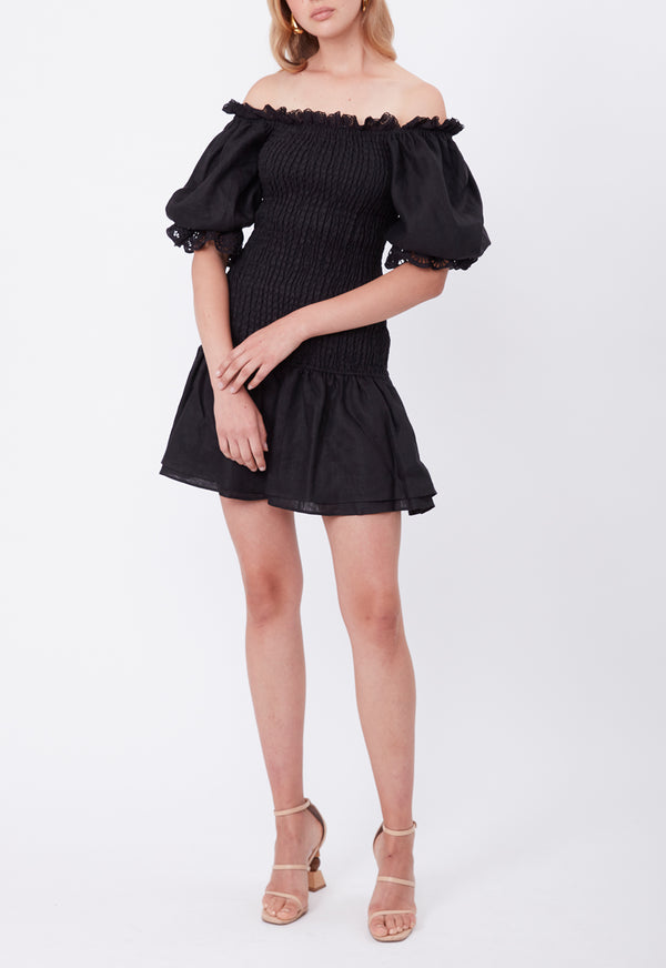 MONDAY MINI DRESS BLACK