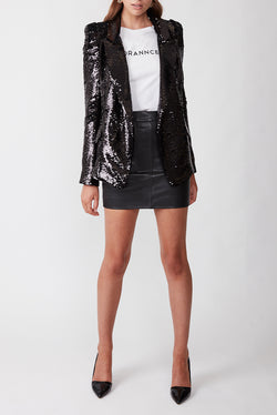 SHINE BRIGHT BLAZER BLACK