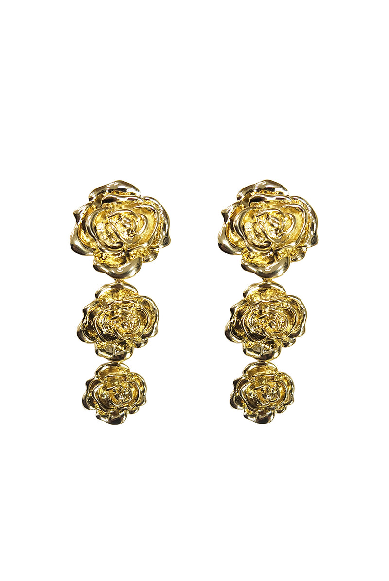THREE ROSE EARRING