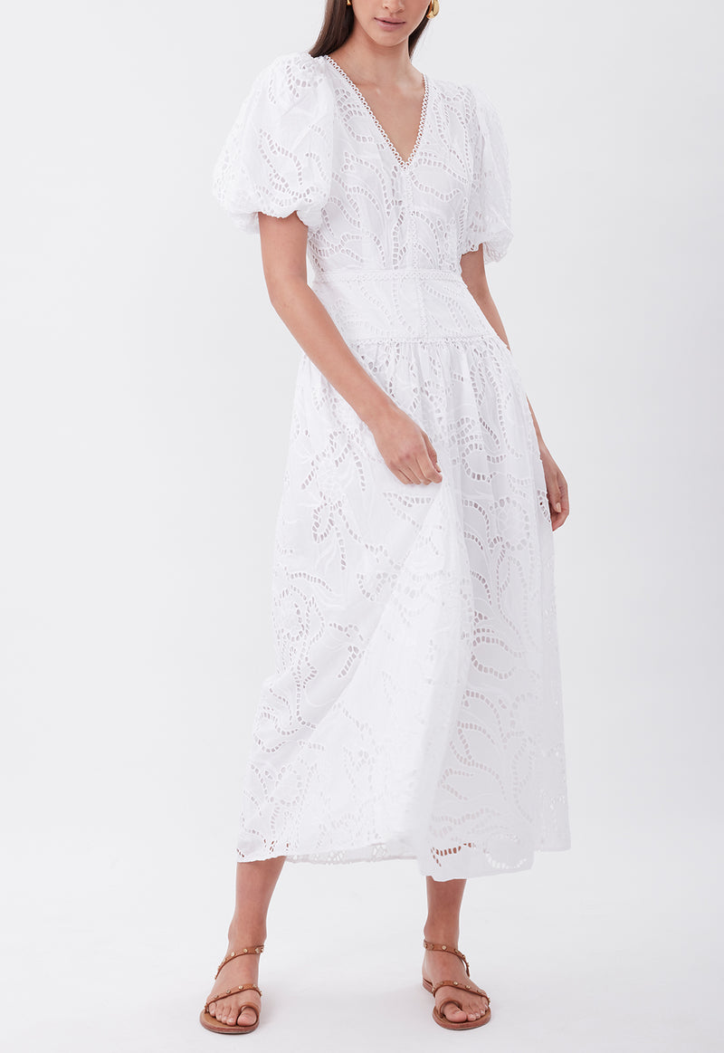 TIE THE KNOT DRESS WHITE