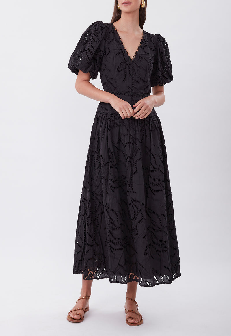 TIE THE KNOT DRESS BLACK