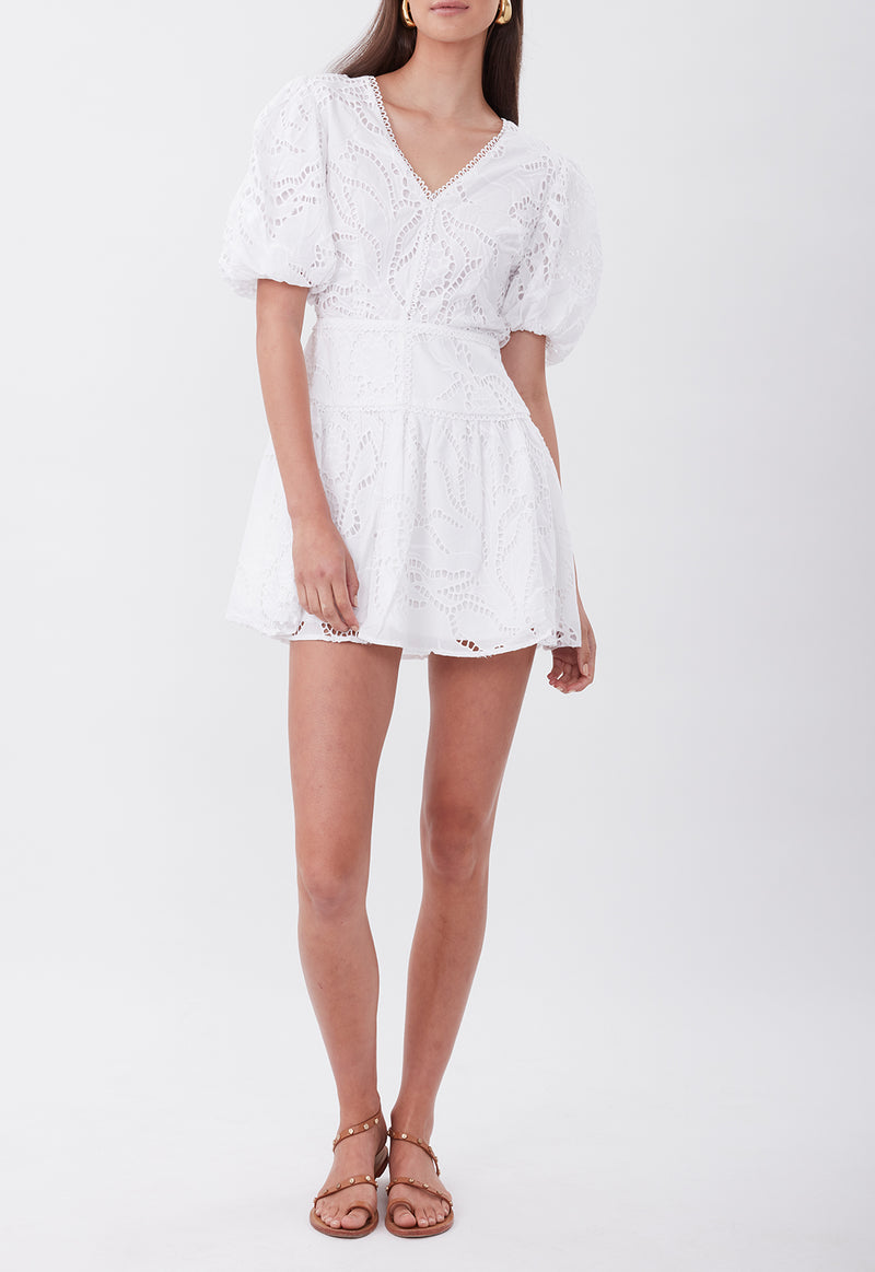 THE TIE THE KNOT MINI DRESS WHITE