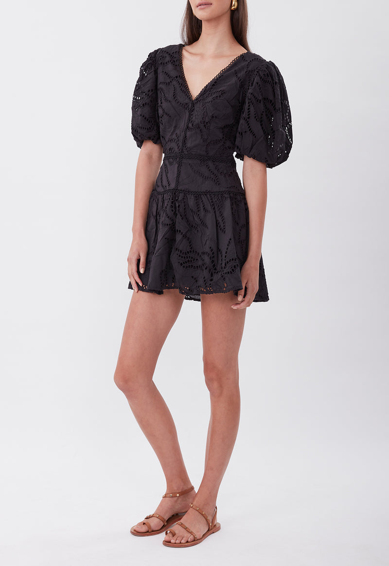 TIE THE KNOT MINI DRESS BLACK