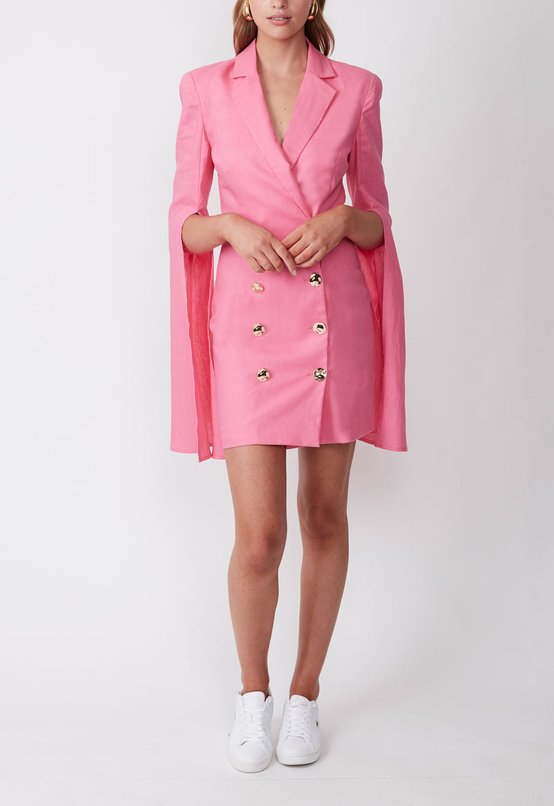 TOPEZ BLAZER DRESS AZALEA PINK