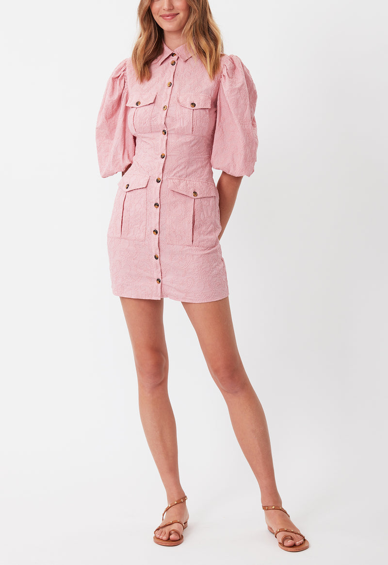UTILITY POCKET DRESS PINK