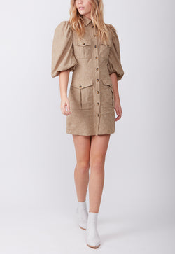 UTILITY POCKET DRESS KHAKI