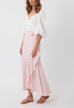 THE WEEKEND WRAP SKIRT BABY PINK