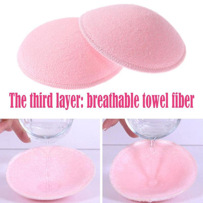 Pregnancy Women Nursing Bra Pads Washable Maternity Breast Feeding Pads Reusable Thick Nursing Pads Cotton Thick Breast 2pcs/lot