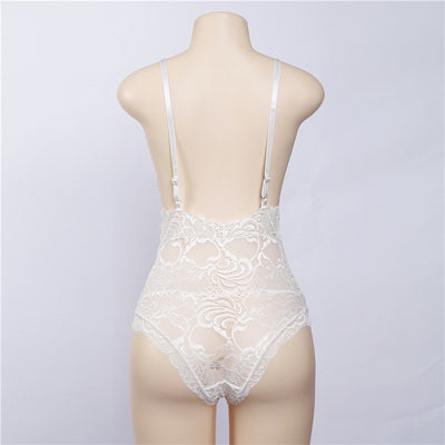 2018 deep v lace bodysuit women sexy catsuit sleeveless fitness summer jumpsuit backless slip leotard bodies one piece sleepwear