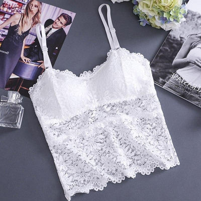 Women Bra Sexy Lingerie Floral Lace Bralette Padded Wireless Bras Plus Size Underwear Women Seamless Bra Push Up M