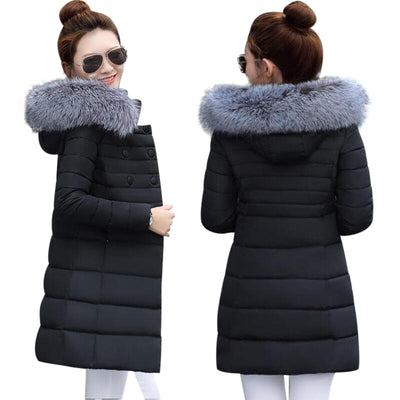 2018 Fashion Wadded Coat Female jacket Women Winter New Slim Warm Down cotton clothing Long sleeve Coat Winter Jackets Women