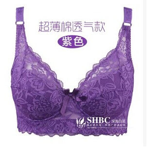 2018 Selling Hot Foreign Trade Ultra-thin Lace Sexy Thin Cotton Cup Plump Big Push Up Bra Bralette Encaje Sexy Bra