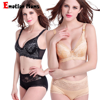 Emotion Moms Lace Maternity Clothes full cup Cotton Plus size Maternity Bra Nursing Bra For Pregnant Women Breastfeeding Bra