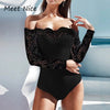 White Black Bodysuits Short Lace Bodysuit Women Short Rompers Sexy Slash Neck Nightclub Evening Party Short Playsuit Overalls