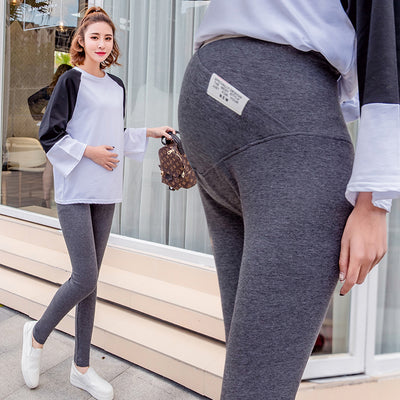 01753# Across V Elastic Waist Belly Maternity Legging Skinny Pencil Legging for Pregnant Women Spring Autumn Knitted Pregnancy
