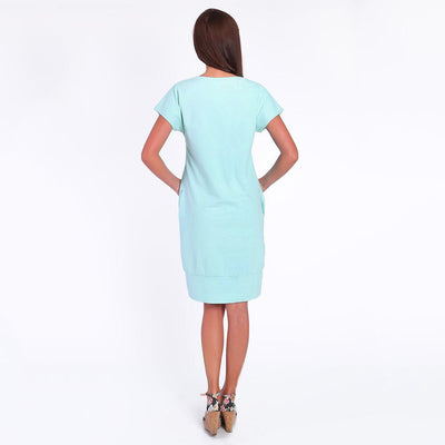 Women Short Sleeve Nurse Pregnant Maternity Dress Mother Solid Pocket Sundress New Summer Loose Women Pregnant Dress vestido