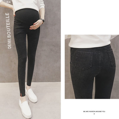 Stretch Skinny Jeans For Pregnant Women Pants High Waist Maternity Pants Nursing Pregnancy Jeans Clothing Maternidad Jeans 2019