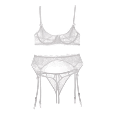 CINOON bra underwear push-up bra sexy lingerie transparent temptation to open the file open breasts garter trousers bralette