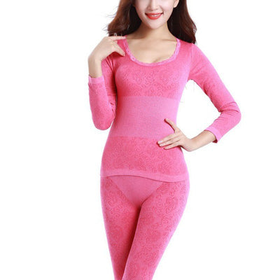Long Johns for Women Single Size Women Winter Thermal Underwear Suit Thick Modal Ladies Thermal Underwear Female Clothing 2017