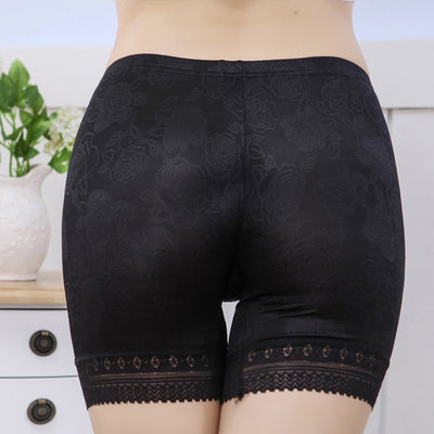 Women Anti Chafing Short Pants Female Lace Shorts Under Skirt Plus Size Safety Shorts Girls Comfortable Safety Underwear Boxers