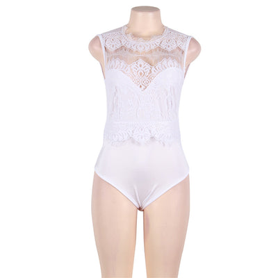 Body Femme Romper Short Women Plus Size 3XL Sleeveless Lace Bodysuit Sexy Cut Out Back Bodycon Bodysuits Salopette Femme R80472